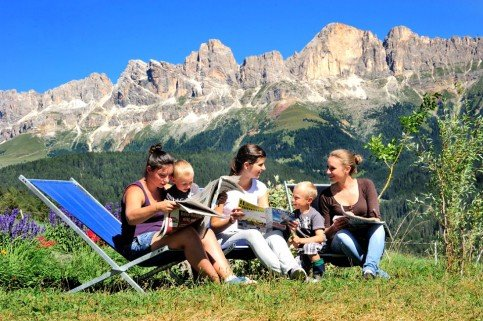 Summer holidays in the Dolomites - Life on the farm in summer